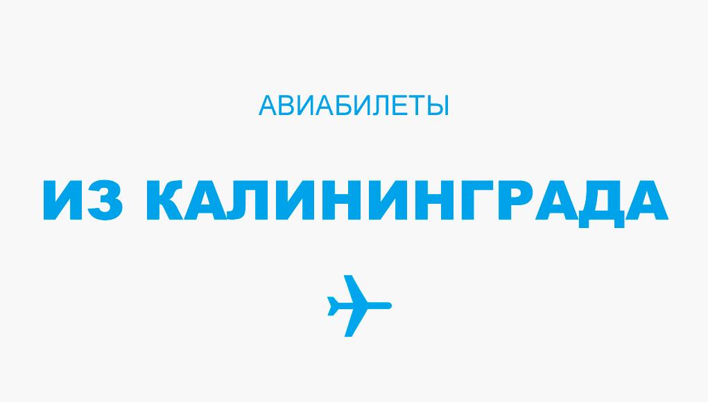 Авиабилеты из Калининграда - прямые рейсы, расписание и цена