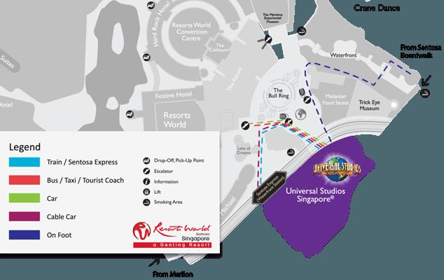 Парк Universal Studios парк на карте Сентозы