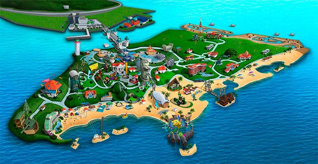 План-карта острова Сентоза в Сингапуре