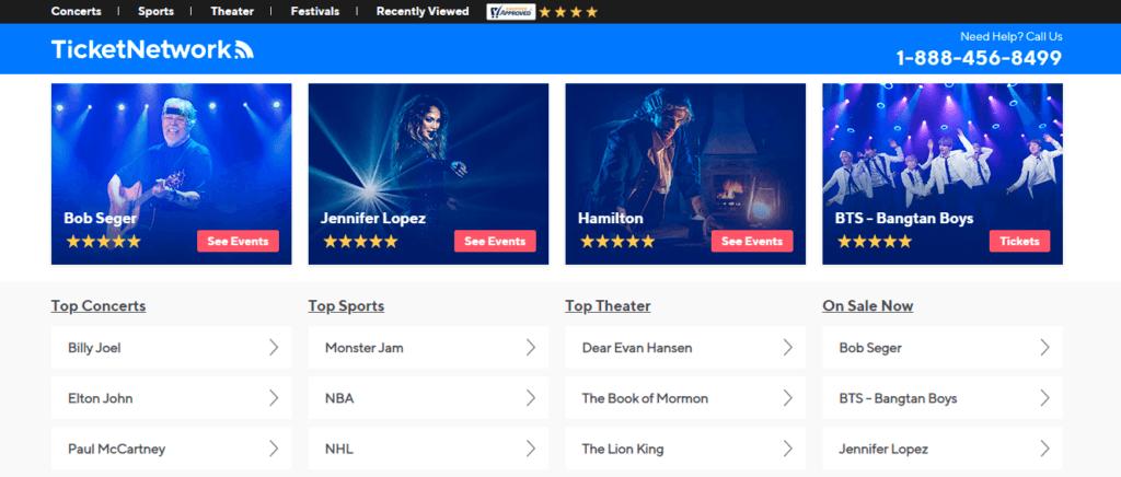 TicketNetwork.com - билеты на спортивные, театральные и концертные мероприятия по всему миру