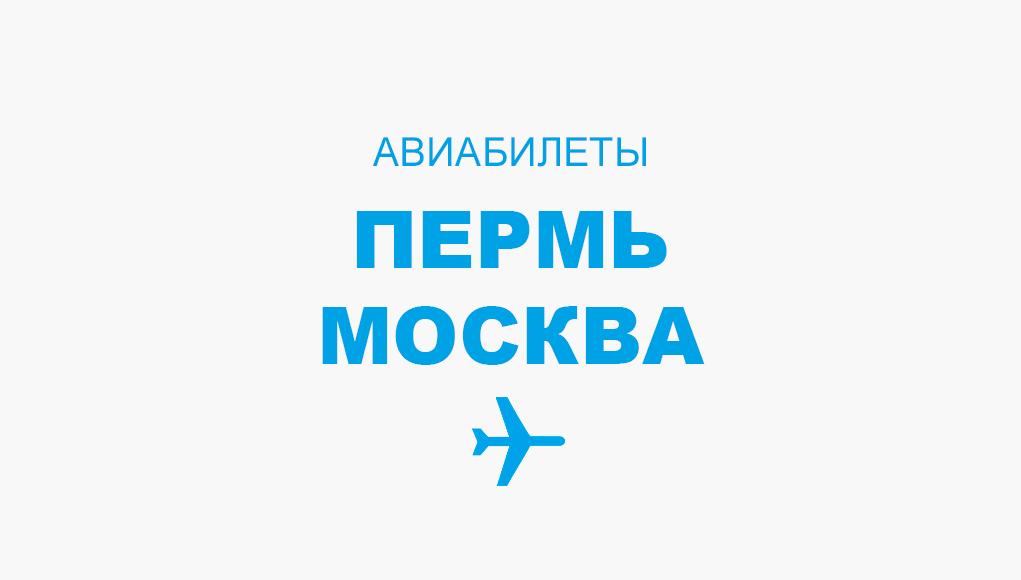 Авиабилеты Пермь - Москва прямой рейс, расписание и цена